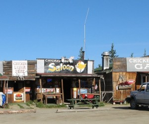 CHICKEN ALASKA Population once 1 now 17. Has store, pub, cafe and giant sized cinnamon rolls