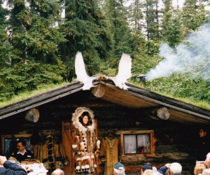 FUR TRADER ON THE FAIRBANKS RIVER CRUISE