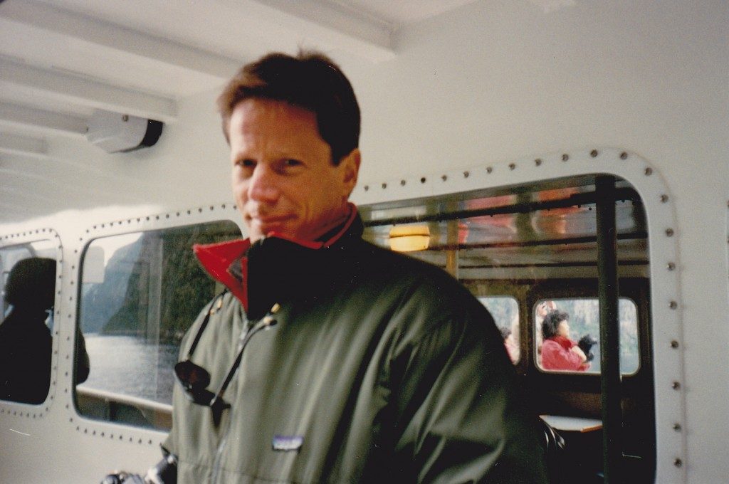 Actor Peter Strauss on Milford Sound cruise