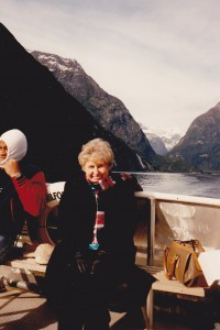 Colleen on NZ Educational, Milford sound