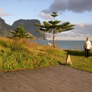 Me at Pinetrees boat shed Lord Howe Island