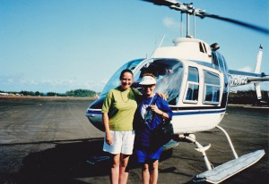 My friend Jackie from Orange HWT talked me into doing the helicopter flight, see knees knocking!
