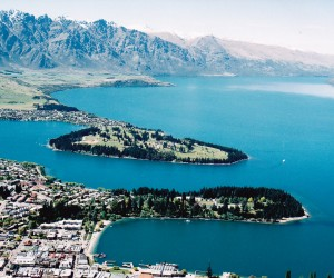 Spectacular view from the cable car statiion on top of the world at Queenstown, south island NZ