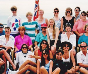 Tapa Tours 1993 Educational to FIJI - back row l.Adele Mitchell and Janet Hoffman