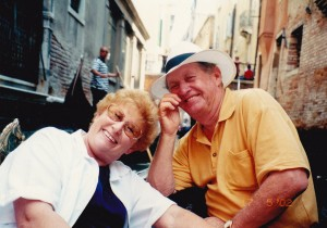 Colleen and John tour leaders in Venice in 2002