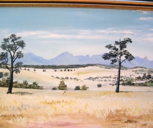 Scene painted by me near our farm looking toward the Warrambungles