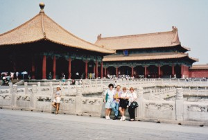Marie and I with group girls at Forbidden City