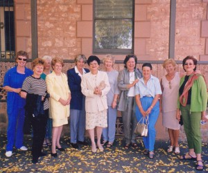 Some of the GFS girls at our last reunion l.to r. Doone, Taylor, Cotton, Booth, Siew, Rone, Bagshaw, Libby me and Sue Leverington,