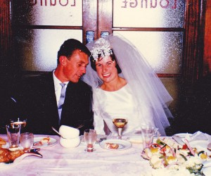 Our wedding 7th December 1963, Christ Church Kapunda SA