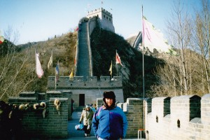 John at Great Wall in the winter