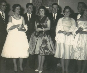 Classic photo of Kapunda Institute dance in the late 50's Smith boys, Libby, me, Helen Tyler and Christine Selth all Primary school day friendss.