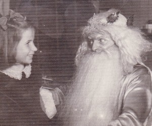 Young Colleen with Santa