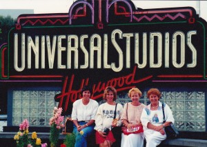 At Universal studios with Doris, Robyn Edgar and me