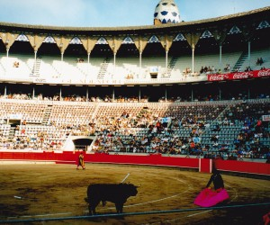 PLAZA DE TOROS  BUILT 1914 BARCEONA we took our group to a bullfight here