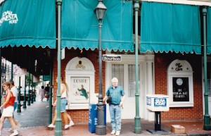 John on fabulous Bourbon Street New Orleans