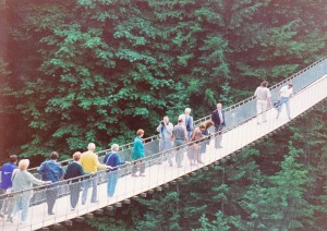 Our group on Capilano suspension bridge