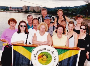 "Group on ""Enchantment of the Seas"" at Jamaica in 1997"
