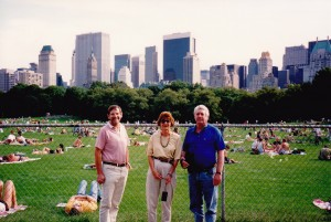 Ian  and Marilyn Mosel with John in Central Park New York 1992