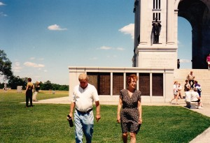 John and our tour guide at the Civil War Memorial