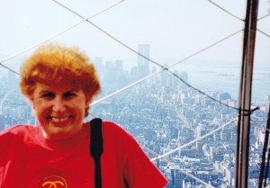 Myself at viewing platform of Empire State Building NY