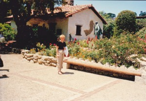Me at the beautiful Carmel Mission on Monterey peninsular