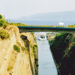 Corinthian canal on the Pelopponese