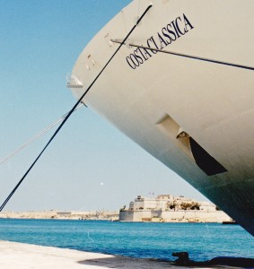 Costa Classica Mediterranean cruise docked in Malta