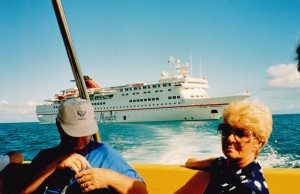 "John and Moira Stephenson on ""Crown Monarch"" group cruise"