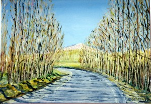 Painting I did for Elizabeth driving to Ronda in Spain