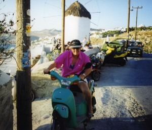 Exploring Mykonos by moped