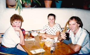Deb and Jack and me sipping on Margarita's and eating Mexican at El Segundo