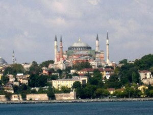 Sailing into the port of Istanbul, truly beautiful