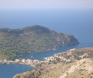 Looking down on Assos on a peninsular of Kefalonia