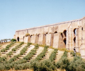 ELVAS PORTUGAL Near the Spain border another Aqueduct
