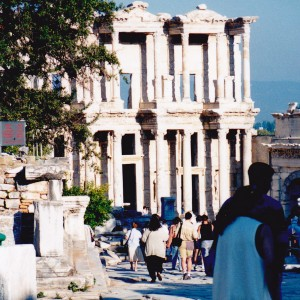 Celsus Library facade at Ephesus on our first visit
