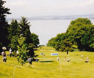 Evian Golf Course looking toward Lake Geneva