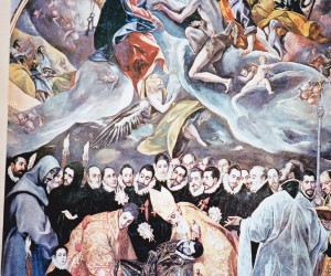 "EL GRECO'S famous painting ""The burial of the Count of Orgaz in SANTA TOME TOLEDO"