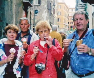 PIAZZA NAVONA GELATO FUN TIME WITH CRANNYS AND GROUP