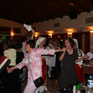 Noeline Greek dancing at Gerou Tou Moria