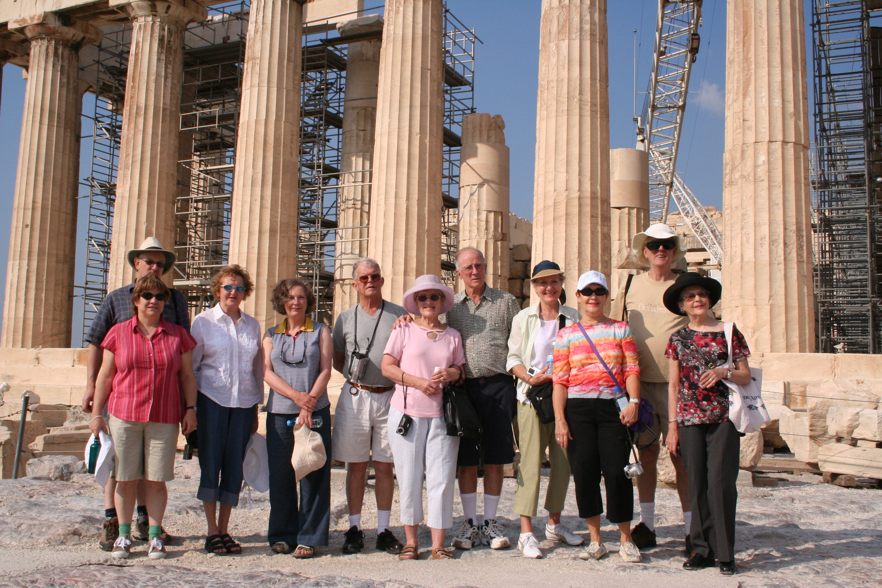 Paul Nagle group in Athens at Parthenon