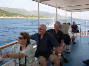 Boat excursion between Kefalonia and Ithaca where this poem came to me