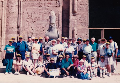 HWT Cowra group at Temple of Horus on Nile Cruise
