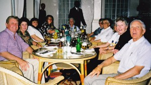 Cowra Group dining at Victoria Falls Hotel