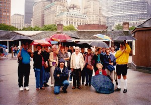 HWT Cowra group in New York, follow the red umbrella
