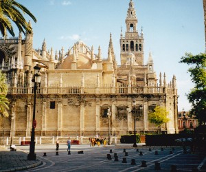 IT'S HUGE SEVILLE CATHEDRAL, largest Gothic and  third largest Cathedral in the world