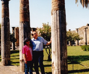 JOHN AND VIVIEN LOWTHER AT POMPEII