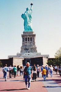 John at Statue of Liberty where you can climb right to the top of the torch.