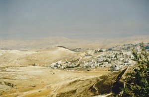 Looking out to Dead Sea from Mt Zion Jerusalem not much changed over the years