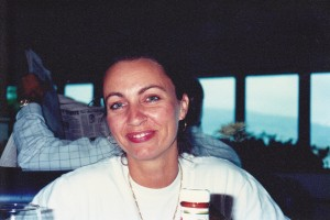 Deb Lawrence-Aakhus at lunch at Hermosa Beach