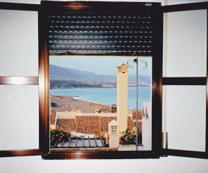 Our room with a view at Liz's apartment at Puerto Banus
